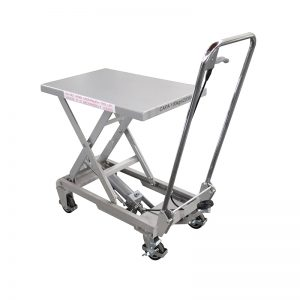 Aluminium / manuelle Schere Edelstahl Hubtisch